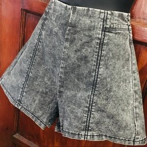 Faded Black High-Waisted Shorts